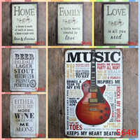 Wholesale beach art decor online - LIFE IS GOOD BEACH MUSIC cm Metal Tin Signs Bedroom Wall Decorations Home Decor Wall Art Pictures Crafts Supplies