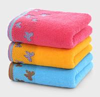 ingrosso asciugamani gialli chiari-Asciugamano a farfalla, puro cotone, resistente allo sbiadimento e morbido, 80 g, 13 * 29 pollici, 3 colori (blu, rosso, giallo), asciugamano leggero