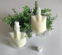 bolsas de dulces para bodas al por mayor-Estuche de plástico transparente de 50 ml con bolsa de envasado de muestras líquidas de bebida líquida doypack