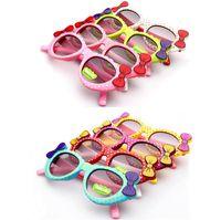 Wholesale bow glasses kid for sale - Cute Baby Kids Sunglasses Girls Polka Dot Glass Children Bow Eyewear Gafas De Sol ninas Child Sunglasses oculos de sol meninas TO719