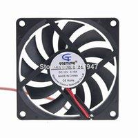 ventilateur de refroidissement à flux axial achat en gros de-1 pcs Gdstime 12 Volts 2 P 80mm 8 cm 80x10mm 8010 Mini DC Axial Flow Ventilateur Refroidisseur