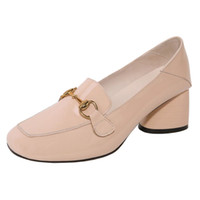 3cf79a3fc532 Smilice 2018 Woman Casual Pumps with Chunky Heel and Square Toe Elegant  Working Chic Shoes with Large Size Available A228