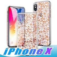 Wholesale iphone plus case for girl 3d online – custom For iPhone XR XS MAX luxury phone case with D Gold Sparkle Glitter Soft TPU Cases with Bling Shining Design for Girls Women Apple iPhone