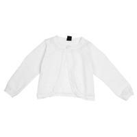 3dae9771e3903a weiße spitze strickjacke großhandel-Weiße Kinder Mädchen Spitze Blume One  Button Closure stricken kurze Pullover