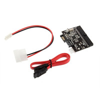 Wholesale sata ide adapter resale online - 2 in SATA to IDE Converter IDE to SATA Adapter Converter for DVD CD HDD DY1106