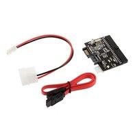 ide sata hdd adapter konverter großhandel-2 in 1 SATA zu IDE Konverter / IDE zu SATA Adapter Konverter für DVD / CD / HDD # DY1106