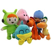 Wholesale bird plush - 6pcs set Pocoyo Plush Toys 12-26cm Pocoyo Pato Loula Nina Elly Sleepy Bird Stuffed Animal Dolls Pocoyo Soft Toys Party Favor CCA9991 5set