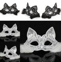 лиса маски сексуальность оптовых-Fox Lace Feather Sexy Mask Half Face Eye Mask Halloween Masquerade Mask Party Dance Xmas Party Lady Fancy Dress