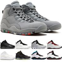 official photos 26a00 4558d Nike Air Jordan Retro Scarpe da pallacanestro da uomo 10 10s Westbrook  Class del 2006 Cement I m Back Fresco Grigio Nero Bianco Cheap Mens Sneaker  da uomo ...