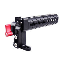 Wholesale Camera Stabilizer Rig - Top Cheese Non-slip Handle Grip with Cold Shoe Base and 15mm Rod Clamp Camera Rig for DSLR Camera Cage Stabilizer Handle