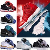 Wholesale Art Legend - Cheap 11 11s Gym Red Chicago Midnight Navy WIN LIKE 82 96 Space Jam 45 Legend University Blue Velvet Maroon Bred Basketball Shoes Sneakers