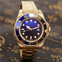 Wholesale dark seas - military watch Luxury Men's MENS SEA-DWELLER DEEP 44mm SEA Stanless Steel Clasp Year UNWORN Automatic Mechanical High Quality Watches men