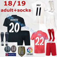 0ef792abc 18 19 Real Madrid soccer jerseys adult sets 2018 2019 ASENSIO MODRIC BALE  ISCO RAMOS SUAREZ football shirts home away men s kits customize