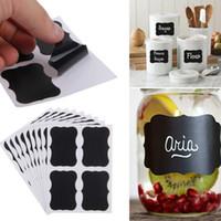 kara tahta etiket çıkartmaları toptan satış-Kara tahta Tebeşir Kurulu Blackboard Etiketler Çıkartmaları Zanaat Mutfak Kavanoz Etiketleri
