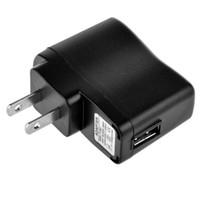 5v мощность mp3 оптовых-Черный США ЕС Plug Ac домашнее зарядное устройство адаптер питания 5 В 1000 мАч настоящий 500 мА адаптер для iphone 5 6 ipod mp3 mp4 Электронная сигарета