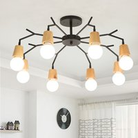Hearty Industrial Style Pendant Light With Black Iron Wheel-like Retro Ceiling Lamp For Indoor Decors Lights & Lighting