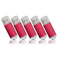 Wholesale memory sticks online - Red Rectangle USB Flash Drive Flash Pen Drive High Speed Memory Stick Storage G G G G G G G for PC Laptop Thumb Pen