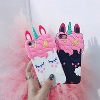 Wholesale 3D Cartoon Soft Silicone Phone Case For iPhone S Plus XS MAX XR Cover Unicorn Animal