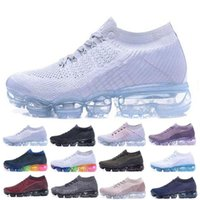 Wholesale plaid mens - Vapormax Air Shoes 2018 For Mens Casual Sneakers Women Sports Designer Shoes Vapor Black Trainer Outdoor Jogging Athletic Hiking Shoes 36-45