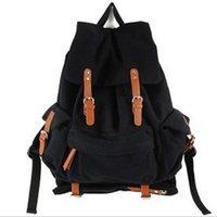 lona korean casual mochila venda por atacado-Nova moda coreano unisex saco de lona mochila de grande capacidade casual