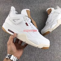 Wholesale mens star jacket - 2018 New Release 4 IV White Denim Jacket 4s Jeans Mens Basketball Shoes Limited Luxury Basket Ball Designer Sneakers Zapatos Trainers Shoe