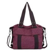 Wholesale ladies backpacks handbags for sale - Group buy Leisure College Style Fashion Women Handbag Outdoor Canvas Portable Bag Lady Multi Layers Retro Zipper Storage Bags hj Ww