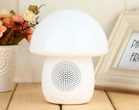 Wholesale Outlet Lamps - 2018 new colorful mushroom lamp T6 Bluetooth speaker intelligent creative subwoofer bedside lamp small sound factory outlet