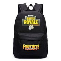 Wholesale tools for school online - Fortnite Battle Royale School Bag High Capacity Adjustable Trendy Backpack With Metal Zipper Luminous Bookbag For Students rr BB