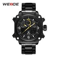 ingrosso orologio digitale quadrante nero-WEIDE Digital Three Dials Uomo Sport Watch Army Army Quarzo Nero Orologi Orologio Relogio Masculino Dropship