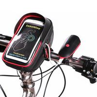 bolsa para guidão venda por atacado-Roda Up 6 Polegada 360 graus Rotatable À Prova D 'Água Bolsa Do Telefone Móvel Tela de Toque Da Bicicleta Saco de Ciclismo Quadro Bagle Handlebar venda quente