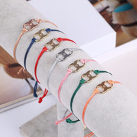 Wholesale beaded necklaces online - 2018 Top quality Brass material love punk many colors New Embrace Ambition Silk Gemini Bracelet in cm pendant with logo women jewel
