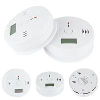 carbon monoxide alarm al por mayor-Sensor de Gas de Monóxido de Carbono de CO Monitor de Alarma Poisining Detector Probador Para la Vigilancia de la Seguridad del Hogar de Alta Calidad