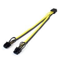 pcie tarjetas de video al por mayor-Cables digitales Cables de datos CPU 8 a tarjeta gráfica de video Doble PCI-E PCIe 8 (6Pin + 2Pin) Divisor de fuente de alimentación