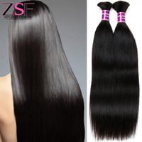 ingrosso all'ingrosso all'ingrosso-2 Bundles Bulk umani intrecciare i capelli 10A grado dritto brasiliano estensione dei capelli umani ZSF capelli vergini brasiliani colore naturale da 8 a 30 pollici
