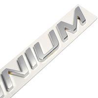 Wholesale auto focus cars for sale - Group buy New D Metal Zinc Alloy TITANIUM Logo Emblem Badge Decals Car Sticker Auto Tail Stickers for Ford Focus Fiesta Kuga EDGE