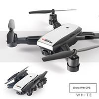 ingrosso telecamera remota telecamera a elicottero-Pieghevole GPS Droni RC giocattolo HD WIFI Camera FPV Altitude Hold Mode Pieghevole RC Elicottero per i bambini regalo Aereo telecomando