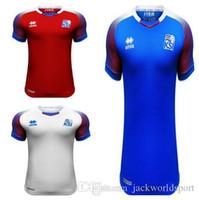 Wholesale island shirts - Iceland 2018 World Cup island jerseys SIGURDSSON SIGTHORSSON top quality soccer jerseys 18 19 Iceland national football shirts