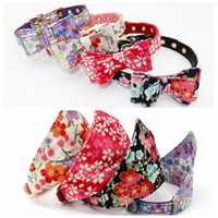 Wholesale personalized cat gifts for sale - floral pattern bow knot dog collars Triangle Scarfs dog bandana collar for Puppy Cats Birthday Party Gifts Supplies