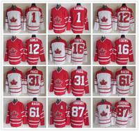 Wholesale Jarome Iginla Jersey - Canada 2010 Winter Olympics Ice Hockey Jersey Roberto Luongo Jarome Iginla Jonathan Toews Rick Nash Sidney Crosby