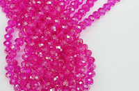 ingrosso perle di vetro cristallo rondelle-500 pz / lotto Top qualità hot pink 4 TAGLIE # 5040 sfaccettato RONDELLE Ruota perline di cristallo di vetro FAI DA TE GIOIELLI