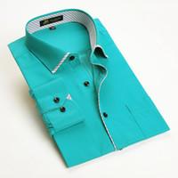 бамбуковые рубашки для бизнеса оптовых-Fashon Новый Бамбуковое Волокно С Длинным Рукавом Мужчины Платье Рубашка Мужской Повседневная Бизнес Формальные Рубашки
