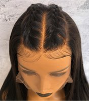Wholesale full lace yaki human hair for sale - Premier Full Lace Human Hair Wigs Deep Parting Brazilian Virgin Human Hair Wigs Yaki Straight Density Lace Wigs
