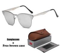 cajas de aluminio para la venta al por mayor-Alta Quailty Más nuevos Venta Caliente de Aluminio gafas de Sol de Magnesio Hombres Mujeres Diseñador de la marca Espejo Gafas gafas deportivas Con Caja y cajas