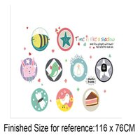 Wholesale pvc bathroom cabinets - Round Circle Polka Dot With Patterns Wall Stickers Cabinet Refrigerator Decor Wall Mural Poster Art Kids Room Living Room Wallpaper Decals