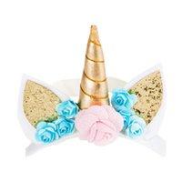 детский головной убор оптовых-Magical Unicorn Horn Head Hair Band Headband Ear Perfect Cosplay Decor 1pc Baby Girl Cute Headwear