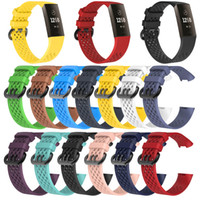 Wholesale silicone wristband sports watch resale online - For Fitbit Charge3 Silicone band Strap Mesh Sport Smart watchband Wristband accessories Watch bands Breathable Bracelet Charge
