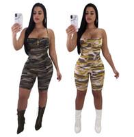 vente salopette courte achat en gros de-Femmes Combishorts D'été Combinaisons Spaghetti Strap Vente Chaude De Mode Dames Casual Camouflage Slim Barboteuse Partie Sexy Salopette Pantalon