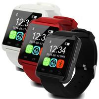 сотовый телефон часы android оптовых-U8 Smart Watch Smartwatch наручные часы с высотомером и двигателем для iPhone 7 6 6S Plus Samsung S8 Pluls S7 edge Android Apple сотовый телефон США