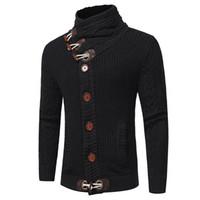 weihnachts-cardigan-männer groihandel-Neue Männer Pullover Mode Marke Kleidung Winter Dicke Rollkragen Mens Weihnachten Pullover Mantel Männlichen Strickjacke