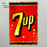 "Wholesale coke signs - Tin signs "" 7 up "" Soda Logo Metal Poster Restaurant Bar Store Coke Wall Decor"